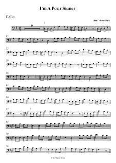 O ich armer Sünder: Für Cello by folklore