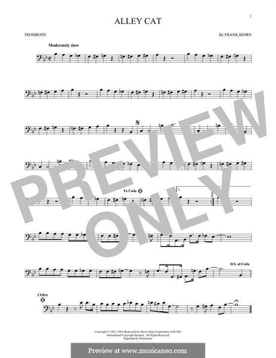 Alley Cat: For trombone by Frank Bjorn