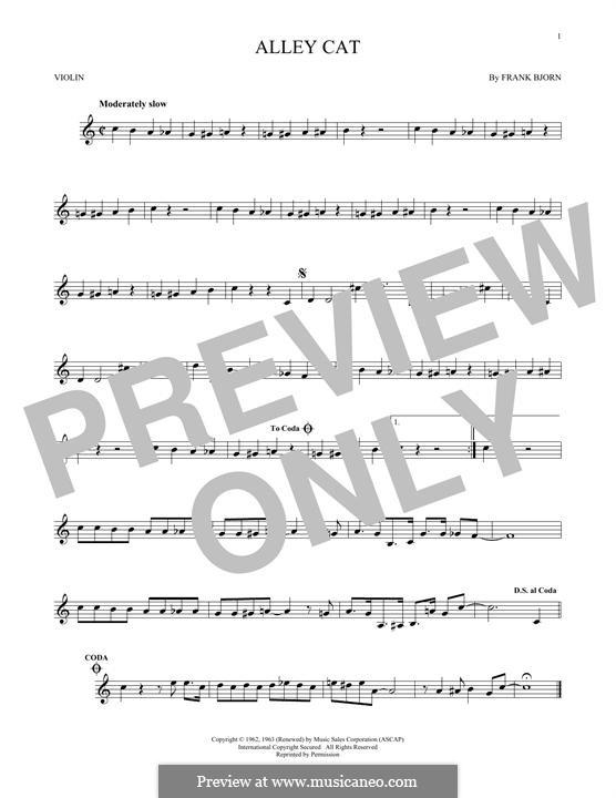 Alley Cat: Für Violine by Frank Bjorn