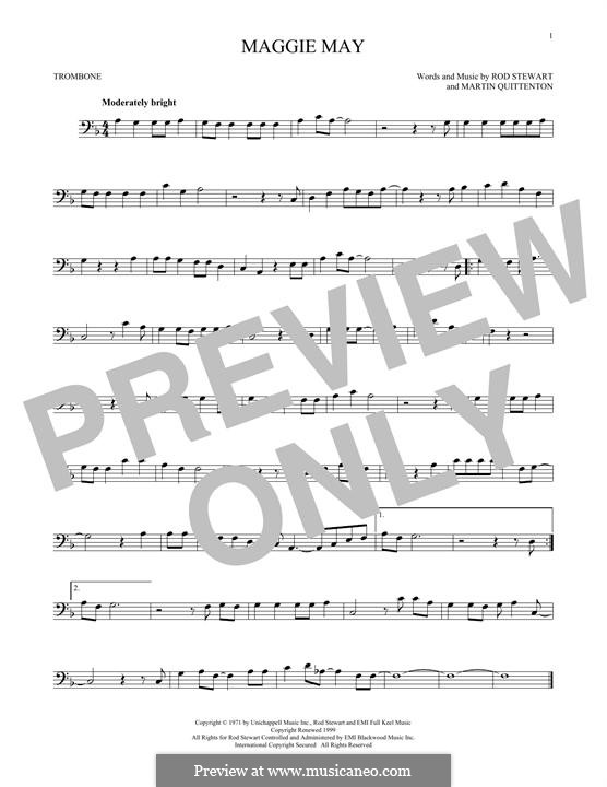 Maggie May: For trombone by Martin Quittenton, Rod Stewart