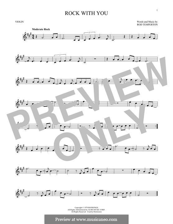 Rock with You (Michael Jackson): Für Violine by Rod Temperton