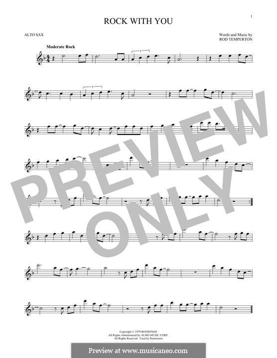 Rock with You (Michael Jackson): Für Altsaxophon by Rod Temperton
