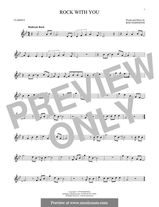 Rock with You (Michael Jackson): Für Klarinette by Rod Temperton