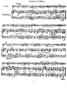 Sonate für Violine und Klavier in e-Moll: Partitur, Solostimme by Giuseppe Tartini