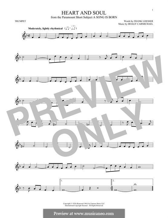 Heart and Soul: Für Trompete by Hoagy Carmichael