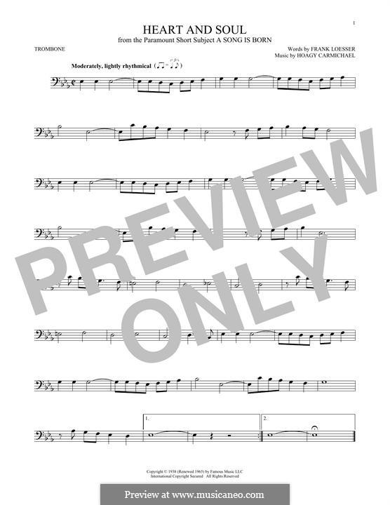 Heart and Soul: For trombone by Hoagy Carmichael
