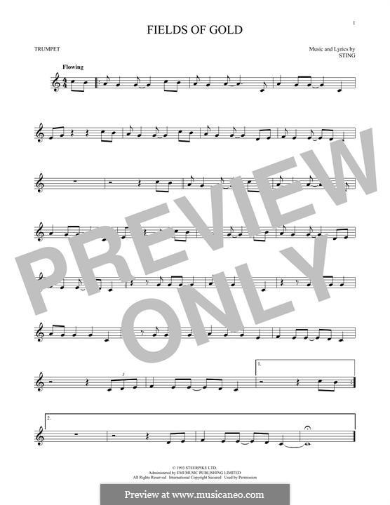 Fields of Gold: Für Trompete by Sting