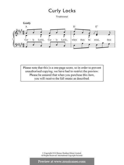Curly Locks: Für Stimme und Klavier by folklore