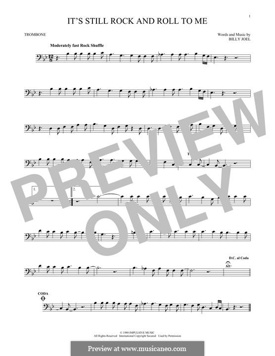 It's Still Rock and Roll to Me: For trombone by Billy Joel
