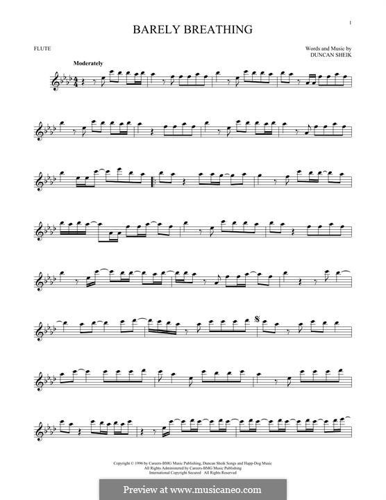 Barely Breathing: Für Flöte by Duncan Sheik