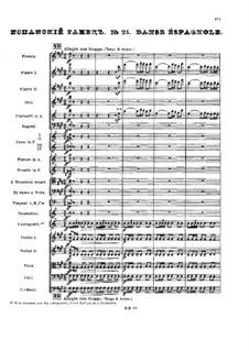 Nr.21 Spanischer Tanz: Partitur by Pjotr Tschaikowski