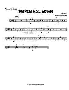 The First Noel Swings: For string orchestra – double bass part by folklore