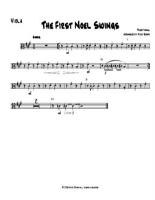 The First Noel Swings: For string orchestra – viola part by folklore