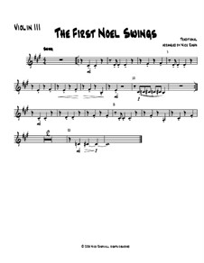 The First Noel Swings: For string orchestra – violin 3 part (optional) by folklore