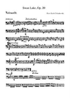 Vollständiger Ballett: Cellostimme by Pjotr Tschaikowski