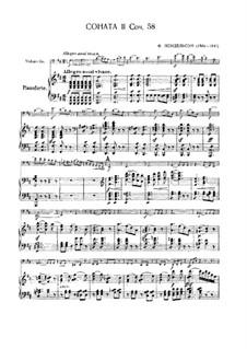 Sonate für Cello und Klavier Nr.2 in D-Dur, Op.58: Partitur, Stimme by Felix Mendelssohn-Bartholdy
