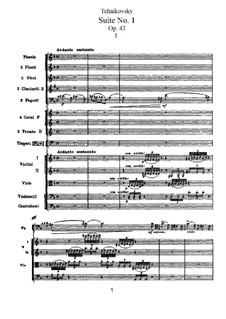 Suite Nr.1 in d-Moll, TH 31 Op.43: Nr.1 Introduktion und Fuge by Pjotr Tschaikowski