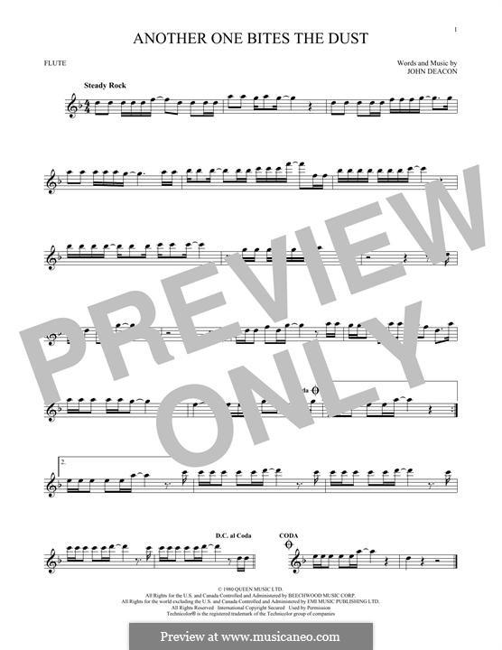 Another One Bites the Dust (Queen): Für Flöte by John Deacon