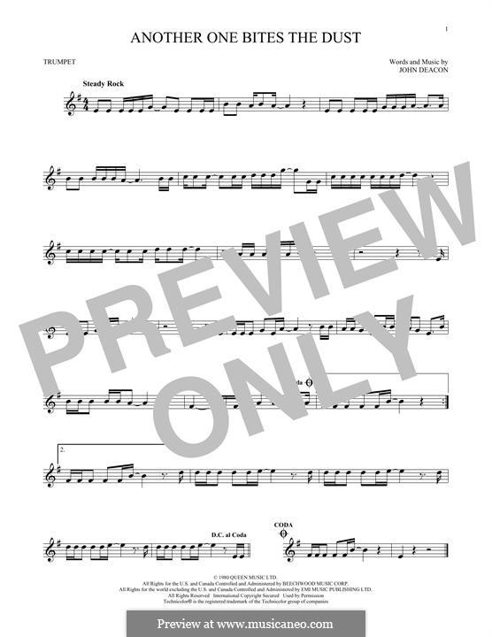 Another One Bites the Dust (Queen): Für Trompete by John Deacon