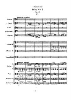 Suite Nr.1 in d-Moll, TH 31 Op.43: Nr.3 Intermezzo by Pjotr Tschaikowski