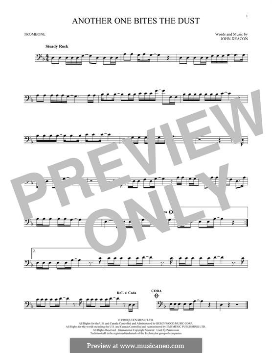Another One Bites the Dust (Queen): For trombone by John Deacon