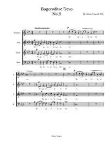 Bogoroditse Devo: Nr.5 by Christo Tsanoff