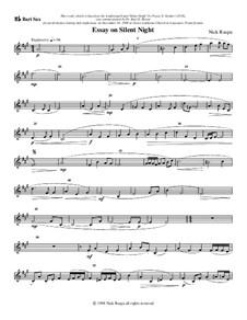 Essay on Silent Night: For saxophone quartet – baritone sax part by Nick Raspa