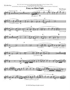 Essay on Silent Night: For saxophone quartet – alto sax part by Nick Raspa