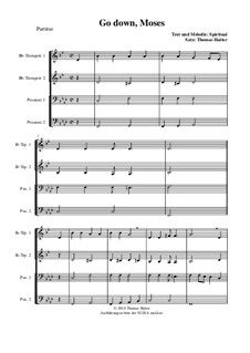 Go Down Moses: For wind quartet by folklore