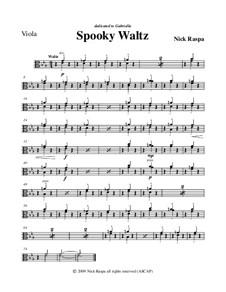 Drei Tänze für Halloween: No.1 Spooky Waltz - viola part by Nick Raspa