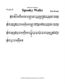 Drei Tänze für Halloween: No.1 Spooky Waltz - violin 2 part by Nick Raspa