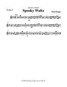Drei Tänze für Halloween: No.1 Spooky Waltz - violin 1 part by Nick Raspa