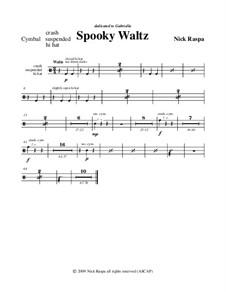 Drei Tänze für Halloween: No.1 Spooky Waltz - cymbals part by Nick Raspa