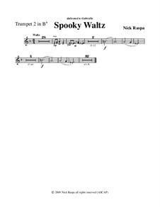 Drei Tänze für Halloween: No.1 Spooky Waltz - trumpet 2 part by Nick Raspa