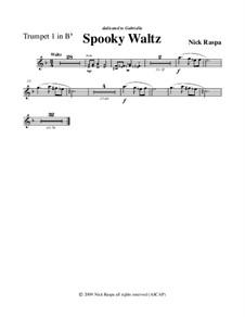 Drei Tänze für Halloween: No.1 Spooky Waltz - trumpet 1 part by Nick Raspa