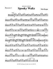 Drei Tänze für Halloween: No.1 Spooky Waltz - bassoon 1 part by Nick Raspa