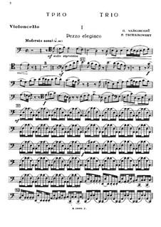 Klaviertrio in a-Moll 'À la mémoire d'un grand artiste', TH 117 Op.50: Cellostimme by Pjotr Tschaikowski