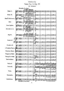 Suite Nr.3 in G-Dur, TH 33 Op.55: Teil III by Pjotr Tschaikowski