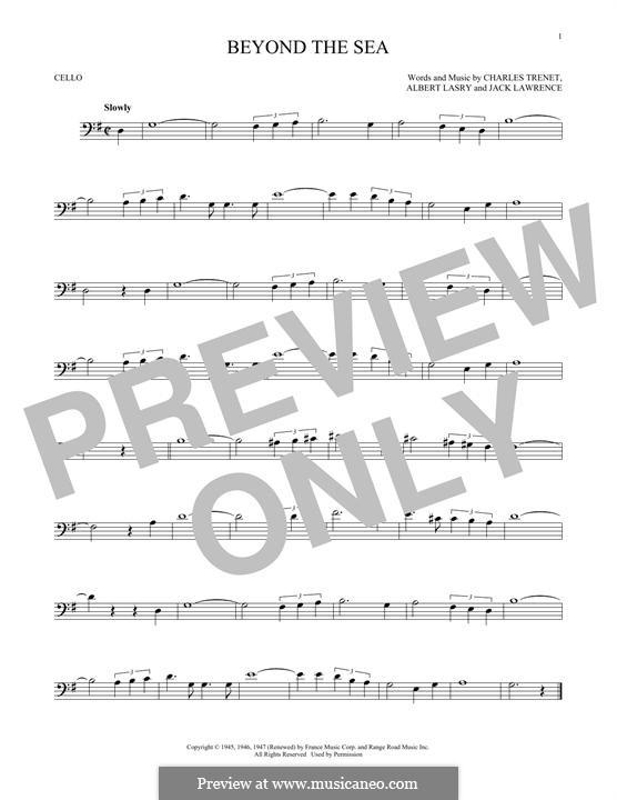 Beyond the Sea: Für Cello by Albert Lasry, Charles Trenet
