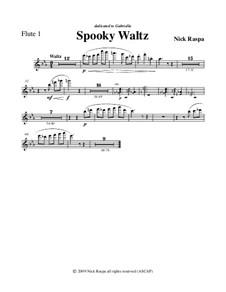 Drei Tänze für Halloween: No.1 Spooky Waltz - flute 1 part by Nick Raspa