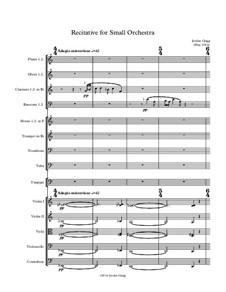 Recitative for Small Orchestra: Recitative for Small Orchestra by Jordan Grigg