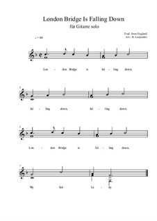 London Bridge: For guitar solo (easy version) F Major by folklore