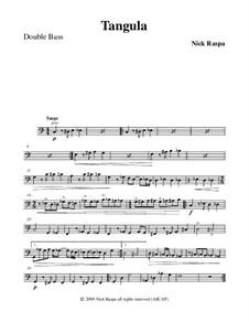 Drei Tänze für Halloween: No.2 Tangula - double bass part by Nick Raspa