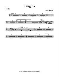 Drei Tänze für Halloween: No.2 Tangula - viola part by Nick Raspa