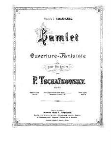 Hamlet. Ouvertüre-Fantasie, TH 53 Op.67: Für Klavier, vierhändig by Pjotr Tschaikowski