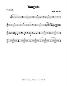 Drei Tänze für Halloween: No.2 Tangula - violin 2 part by Nick Raspa