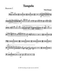 Drei Tänze für Halloween: No.2 Tangula - bassoon 2 part by Nick Raspa