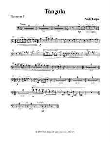 Drei Tänze für Halloween: No.2 Tangula - bassoon 1 part by Nick Raspa