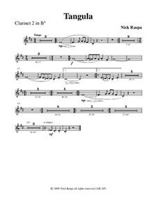 Drei Tänze für Halloween: No.2 Tangula - clarinet 2 part by Nick Raspa