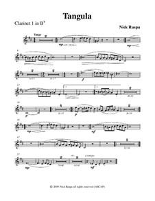 Drei Tänze für Halloween: No.2 Tangula - clarinet 1 part by Nick Raspa
